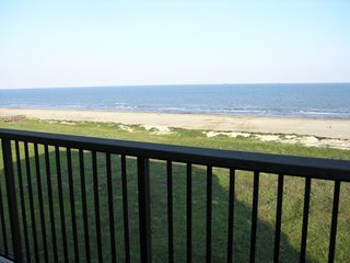 Galveston condo photo - Ocean view from the private balcony #2 off the master bedroom.