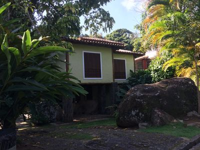 House Closed Condominium in Ilha Bela. Common area with deck and pool by the sea