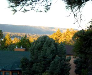 Big Bear Lake chalet photo - Beautiful Fall View from deck with cast iron table for six!