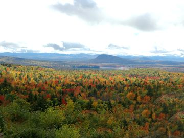 Enjoy the View of Fall Foliage and the White Mountains. Photo taken from Lodge.