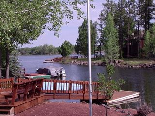 Pinetop house photo - Dock and lake in summer
