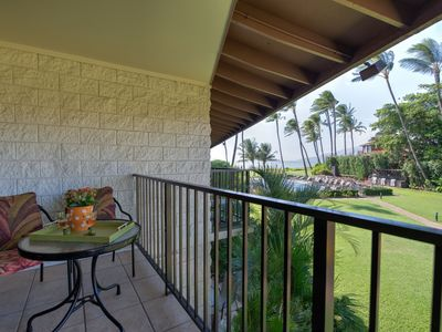 View of the ocean and pool from the lanai