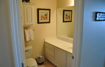 Large clean, spacious bathroom.