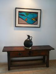 Puerto Vallarta condo photo - A mix of modern and antique art and furniture