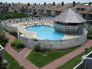 Hyannis - Hyannisport condo photo - pool & private beach on site. See yachtsmancondo.com We are # 58