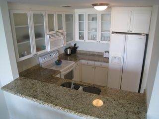 Ruskin condo photo - Full Granite tops, double sink, dishwasher, ice dispenser fridge, blender.