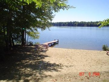 1st Beach 2/10th's of a mile from cottage(Sunset Lake) clean sandy swimming area