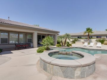 Bermuda Dunes house rental - Outdoor Pool & Spa - Relax in the gorgeous outdoor pool and hot tub.