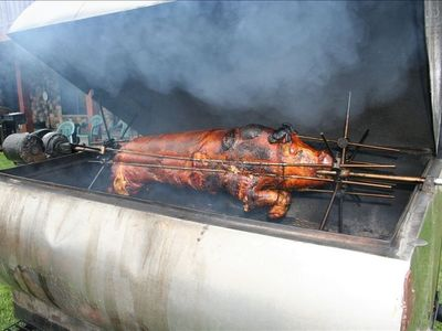 Pig Roast & Catering Available with advance notice & extra charges will apply.