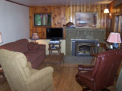 Seebert cabin rental - Living Room .....So Get Comfortable!