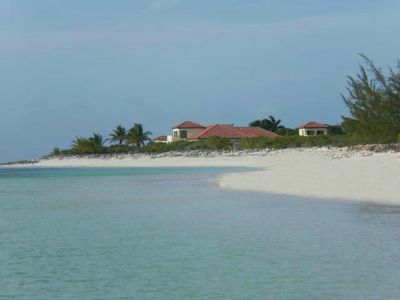 North Caicos villa rental - View of Jodo Estate from Parrot Cay....7 gated acres,over 400ft of beachfront.
