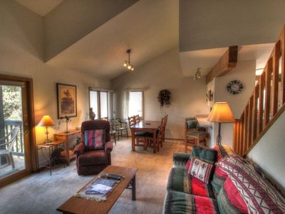 Living Room - Vaulted ceilings and large floor plan are great in this 2 level condo.