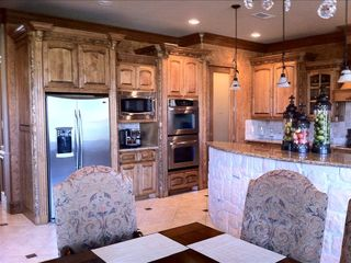 Full size kitchen with double ovens And Expresso machine