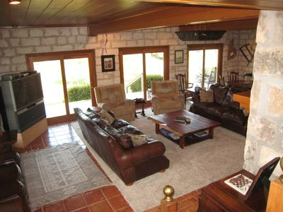 Spacious living room in the Main House