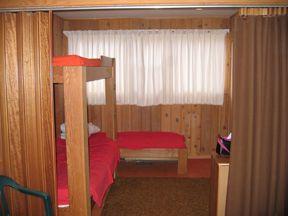 The bunk room right side- sleeps 3 singles.