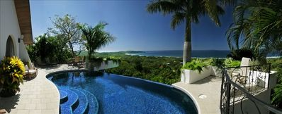 THE PANORAMIC OCEAN VIEW FROM THE HOUSE, DECK AND POOL