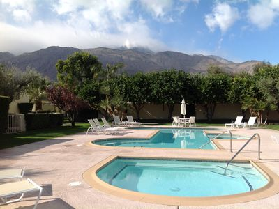 Hot-tub and second pool, San Jacintos Mountains