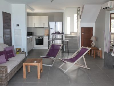 Full equipped living room , open to the terrace and swimming pool , air-co