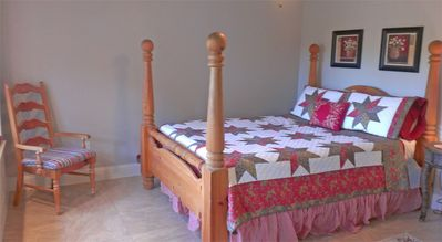 Jonestown house rental - Bedroom 3 has a lovely queen bed