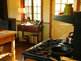 Boonville farmhouse photo - The spacious and bright country kitchen.