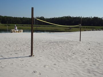 Volleyball Net at Clubhouse Beach