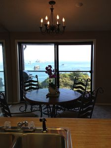 Ocean view from kitchen and dining room