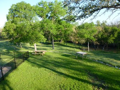 Lampasas house rental - This is what Spring looks like at Creekside - so green!