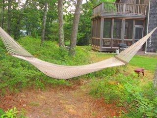 West Tisbury house photo - Relax in the hammock
