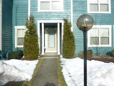 Seven Springs condo rental - No steps to main Living area. Easy to carry in belongings. Ski locker on porch.