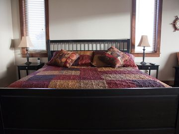 King Size Bed in Executive Master Suite