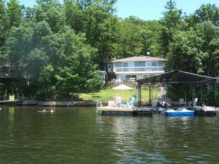 Easy access to swim platform/dock; paddle boat available for use. - Gravois Mills house vacation rental photo