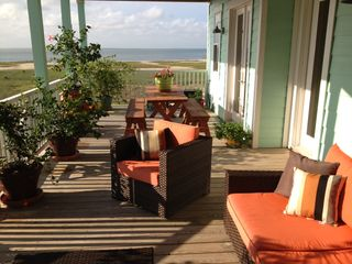 Galveston villa photo - View of main outdoor deck