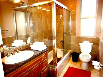 Bathroom shared by second and third bedrooms