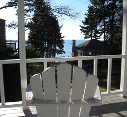 Boothbay Harbor cottage photo - A cup of coffee on the porch in the morning...wonderful!