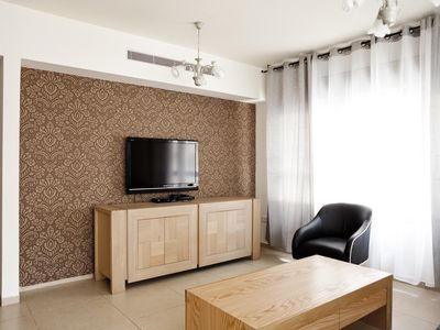 Tel Aviv apartment rental - Suite-Sunflower - Living room