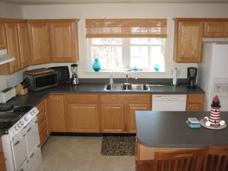 Brewster house photo - Kitchen fully equpped with campy gas stove & center griddle.