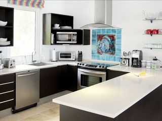 Dawn Beach house photo - Fully equipped open kitchen with cookware & cuisinart appliances.