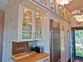 Chilmark cottage photo - Kitchen Features Butcher Block & Stainless Counters, Commerical Stainless Appliances & Wine Refrigerator