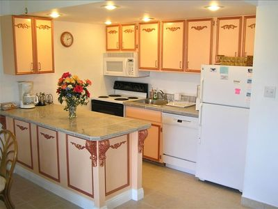 Fully equipped kitchen has all appliances and food prep tools you will need.