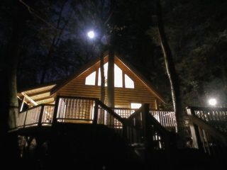 Banner Elk cabin photo - Treehouse at Night