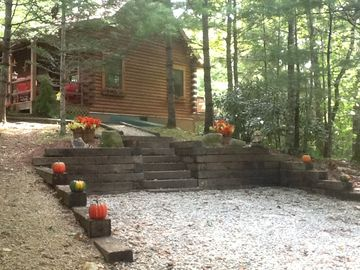 Lake Nantahala cabin rental - driveway to the cabin on top of the mountain gorgeous views