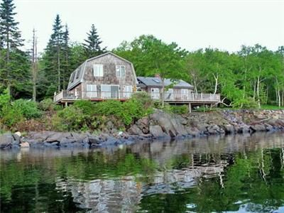 Owls Head house rental - From the water - the newer section is on the left