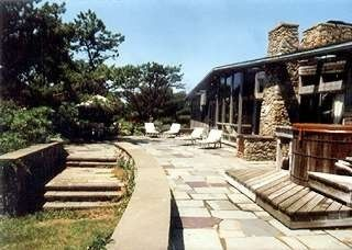 Chilmark house photo - The Stone Terrace Spans the length of the home on the south and sunny side!