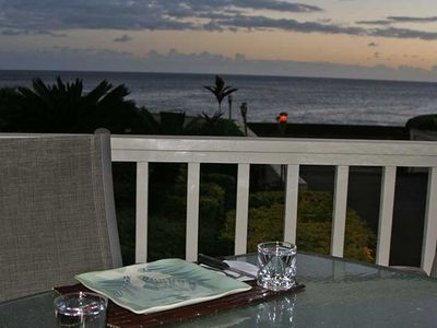 Wonderful sunset views right from your table.