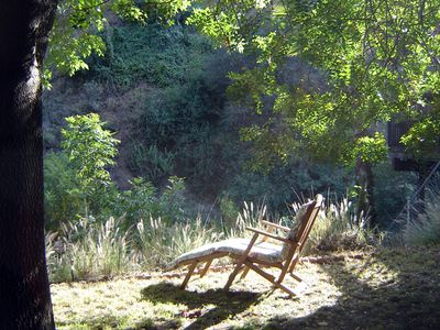 Relax in the backyard and take in views of the canyon