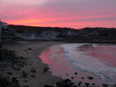A cold weather sunset over Front Beach.