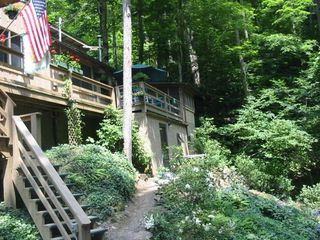 Burnsville cabin photo - Lush Summer Foliage