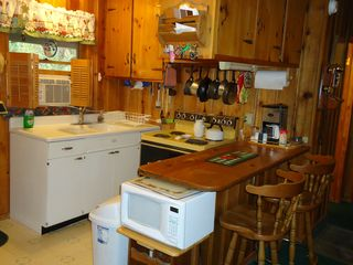 Ruidoso cabin photo - Rustic--yet window AC and all the amenities