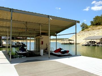 1500 Sq Ft Dock & Slip on Deep Lake Travis Water--Never Dry, Even in Drought