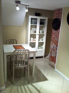 Dining nook in kitchen area